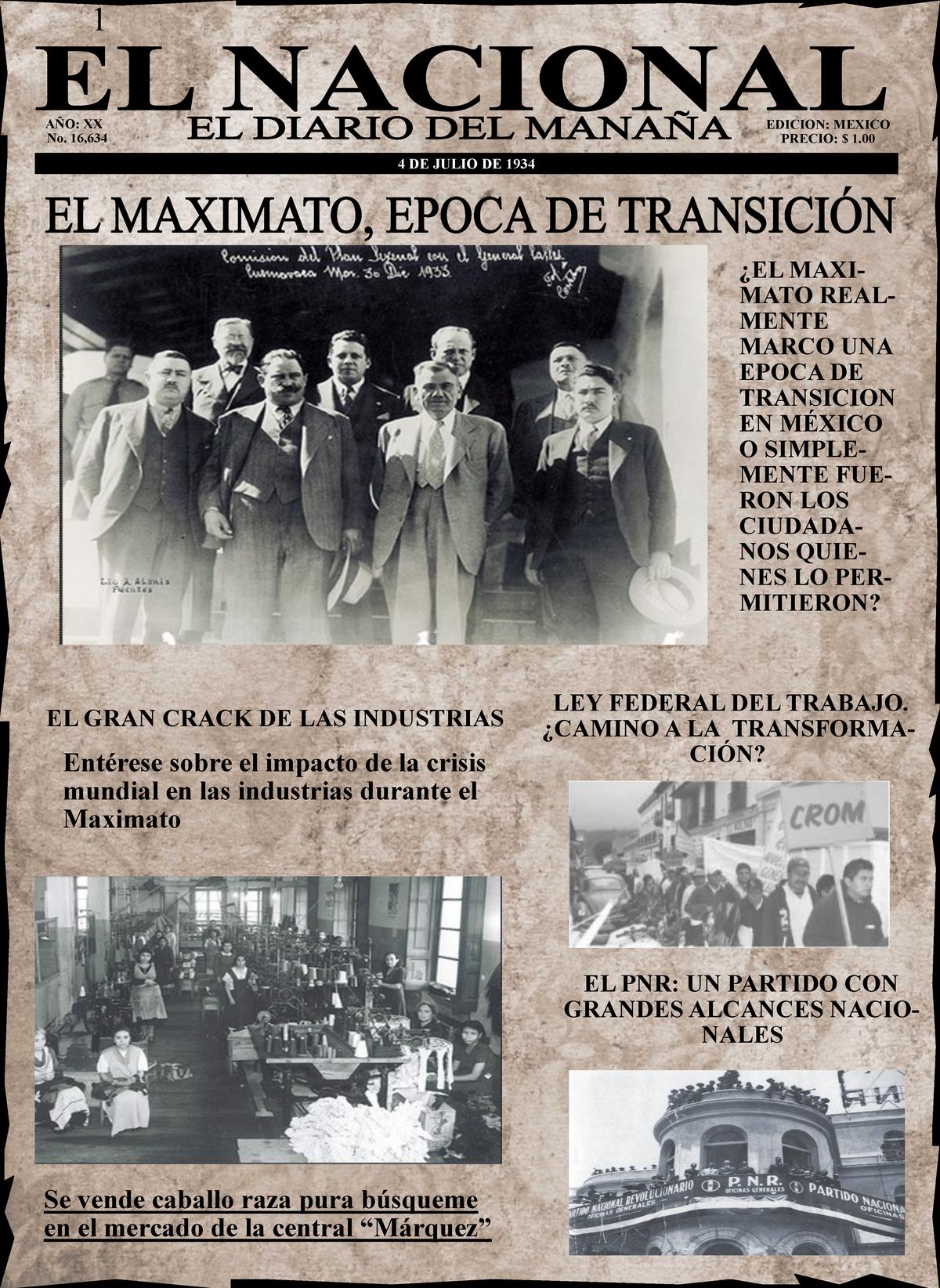 Periodico Del Maximato 120002 Uam Studocu