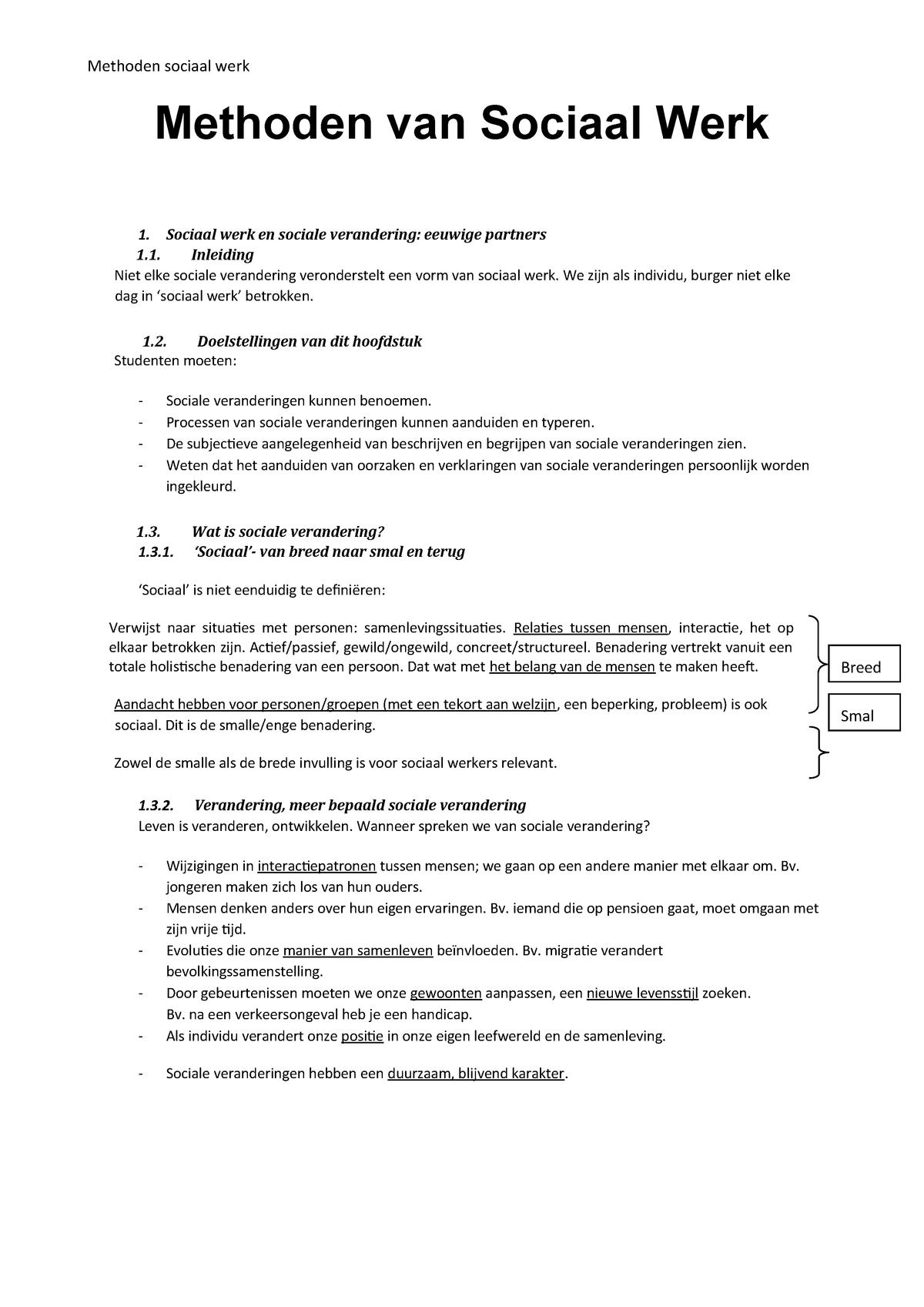4f159f4c12e Cursus methoden van sociaal werk - MBW66A - StuDocu