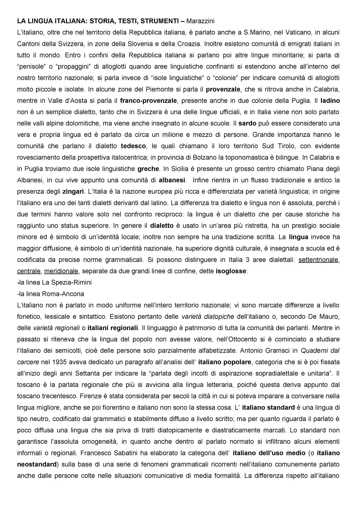 Lingua storia bruno italiana della pdf migliorini