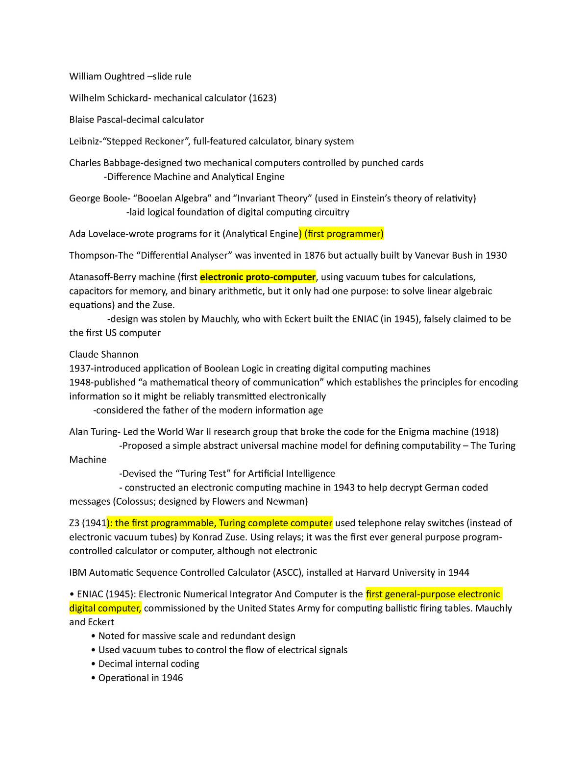 Notes for midterm 1 - EECS1520: Computer science - StuDocu
