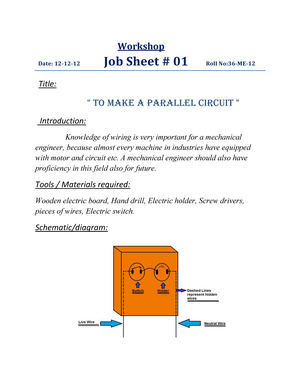 To make a parallel circuit - MCT -121 - UET La - StuDocu Hand Drill Wiring Schematic on