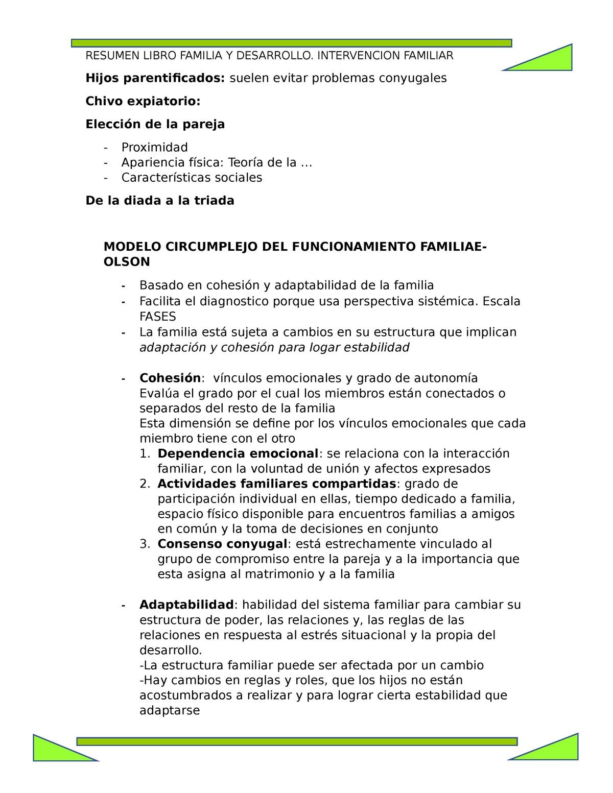 Psicologia Familiar Libro Valdes 7606027 Ucsm Studocu