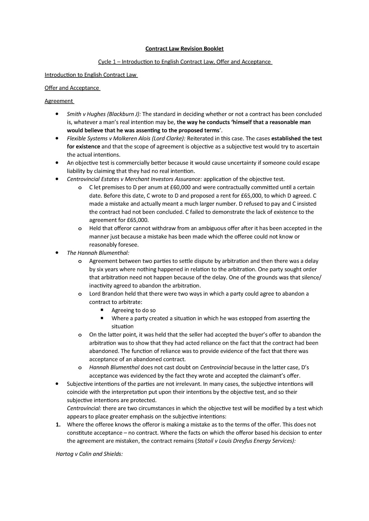 Summary LAW1004 LAW1004 13 Mar 2018 - StuDocu
