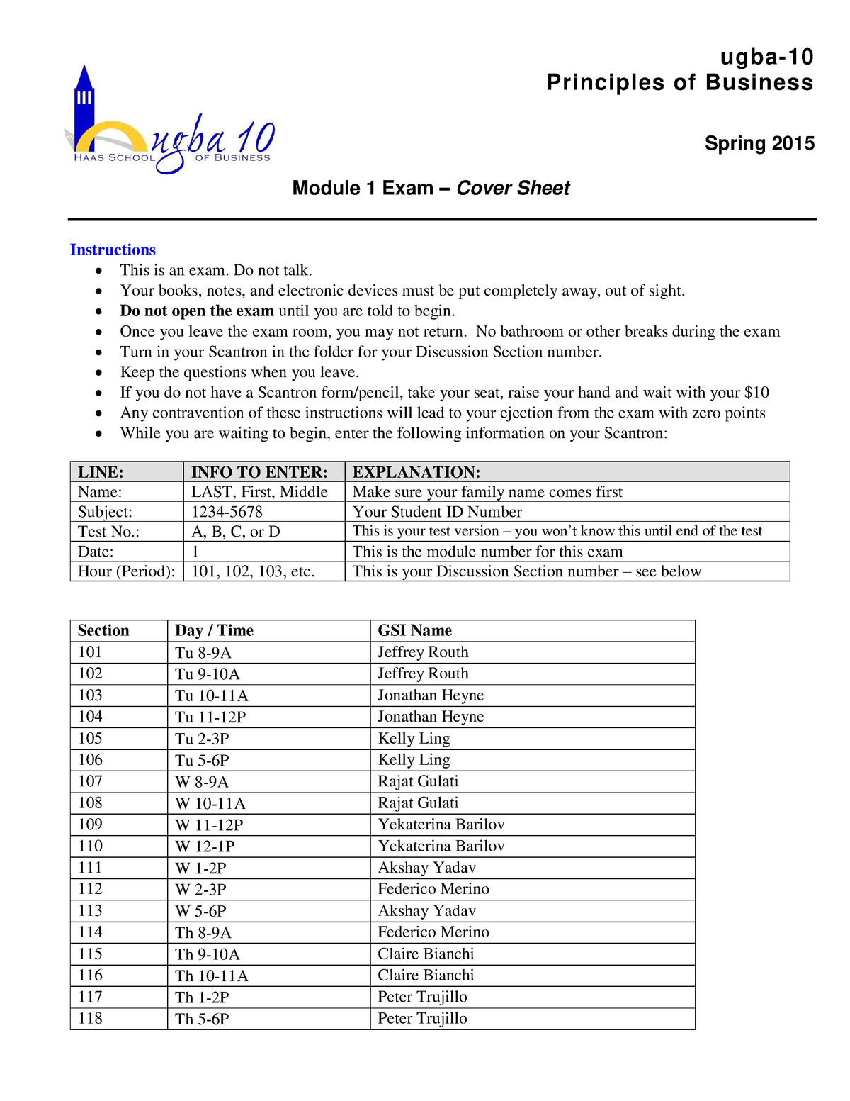 Previ Capsim Modular Exam | Asdela
