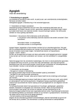 Samenvatting Voor De Verandering 20 May 2014 Studeersnelnl