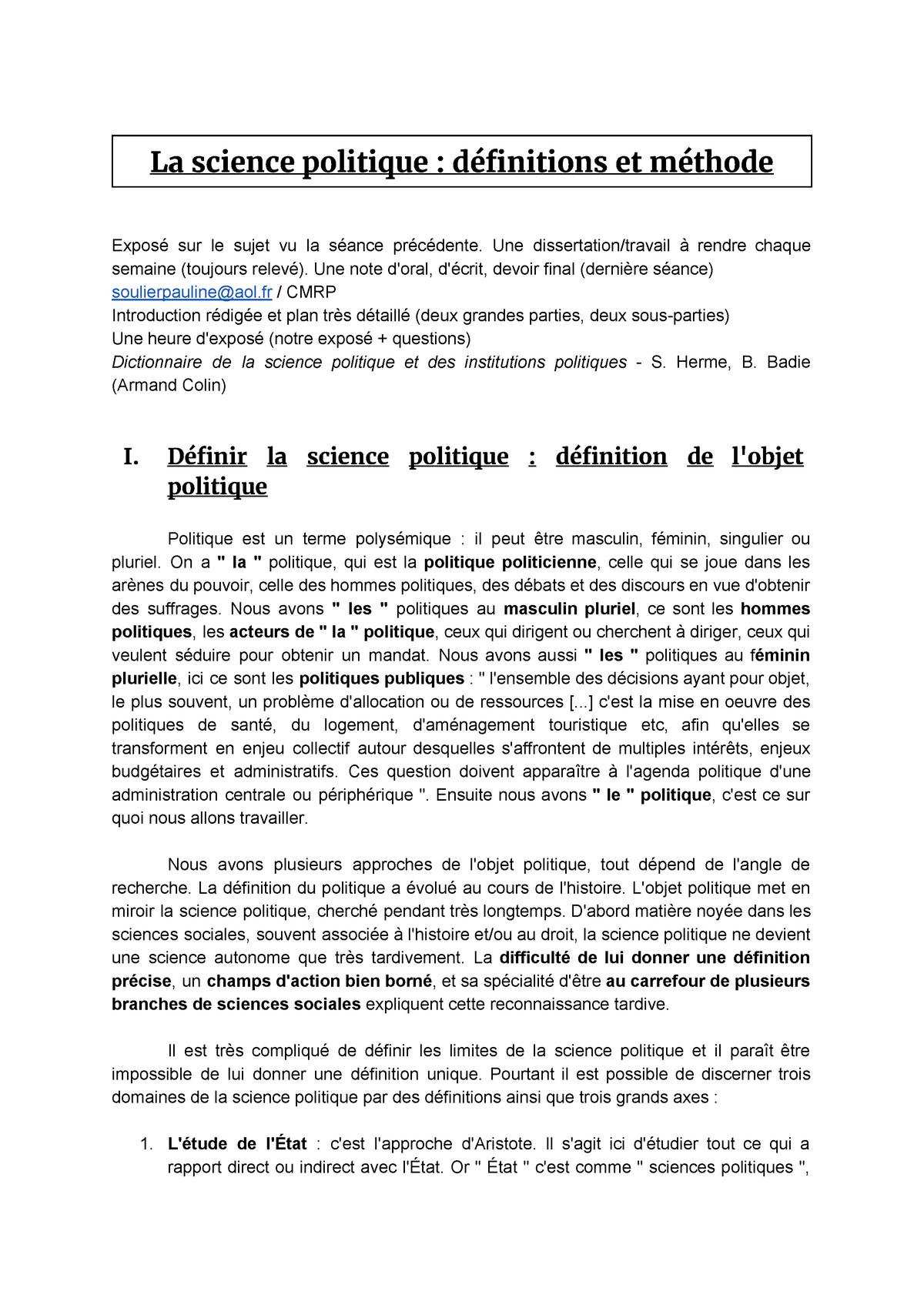 Plan dissertation science politique sample emory supplement essay