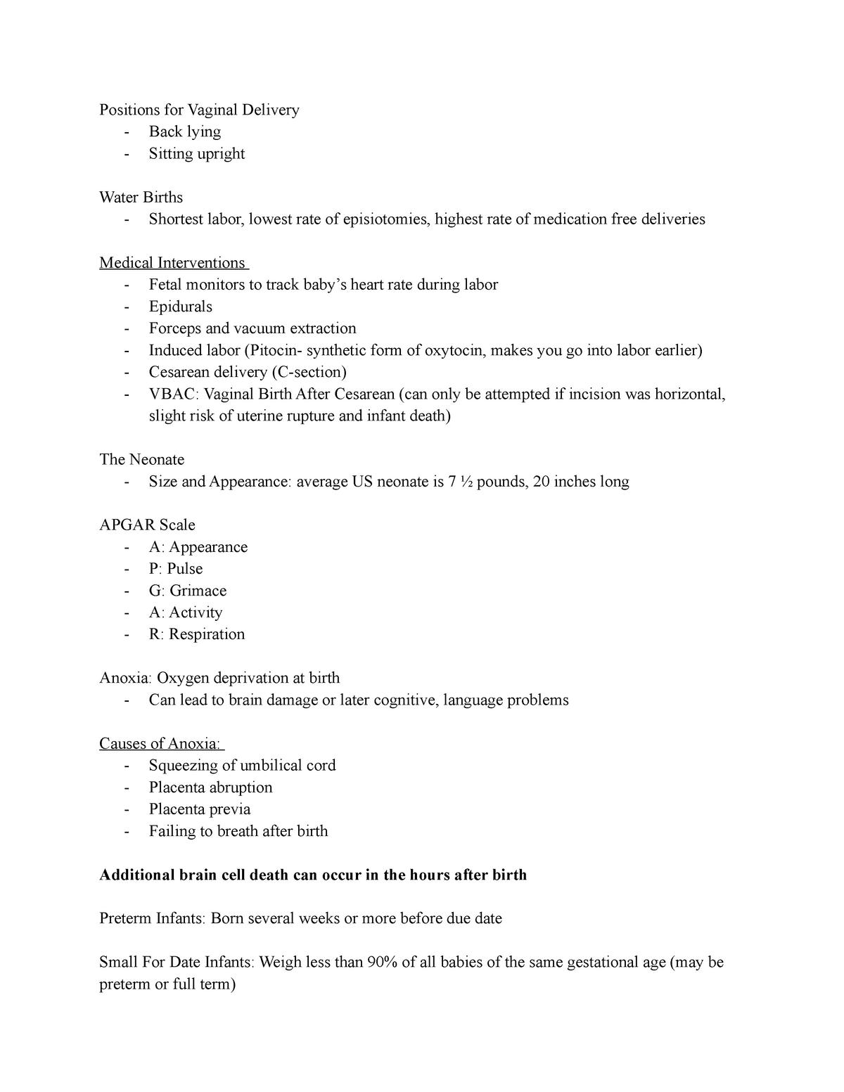 Child Development Notes - CHFD 2135: Child Development - StuDocu