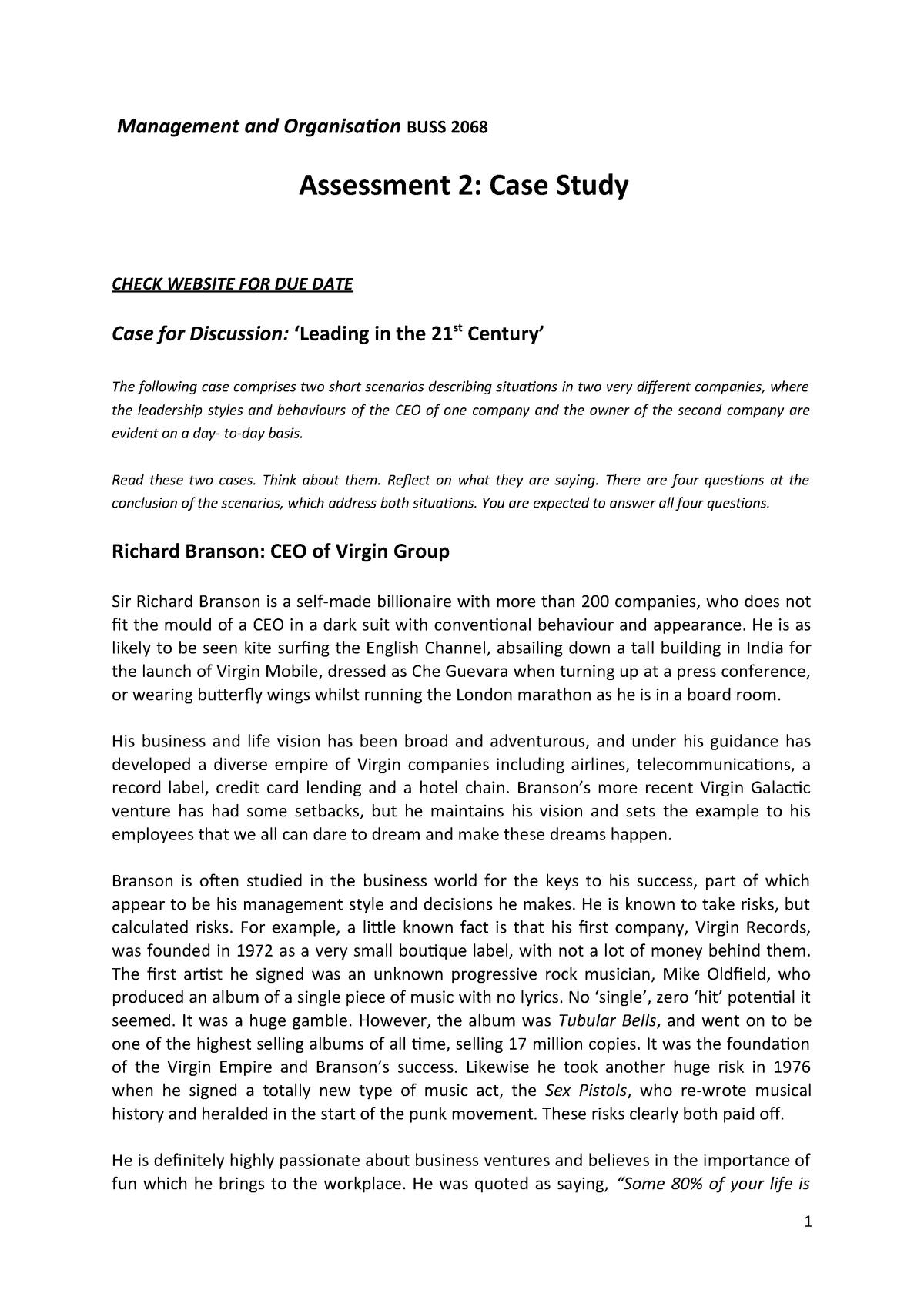 Case Study Discussion