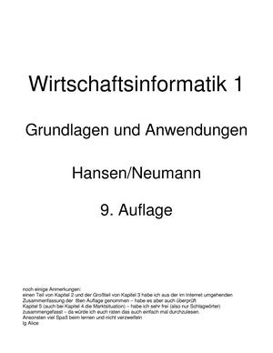 Ebis-Zusammenfassung - Betriebliche Informationssysteme I