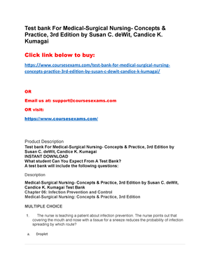 test bank for medical surgical nursing concepts practice 3rd