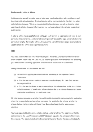week 11 example letter to critique llb105 legal problems and communication studocu