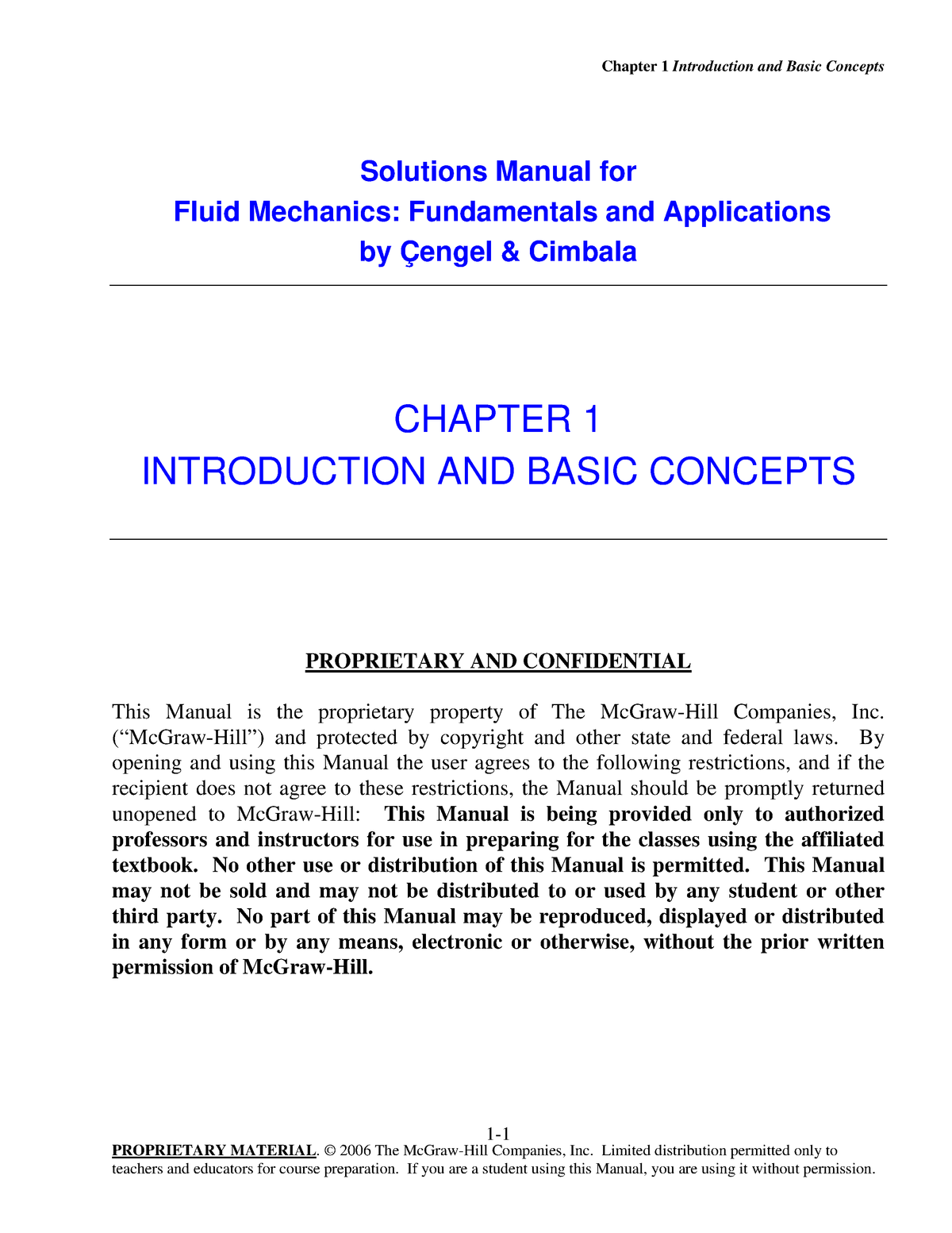 Solution Manual - Fluid Mechanics - Fundamentals And Applications