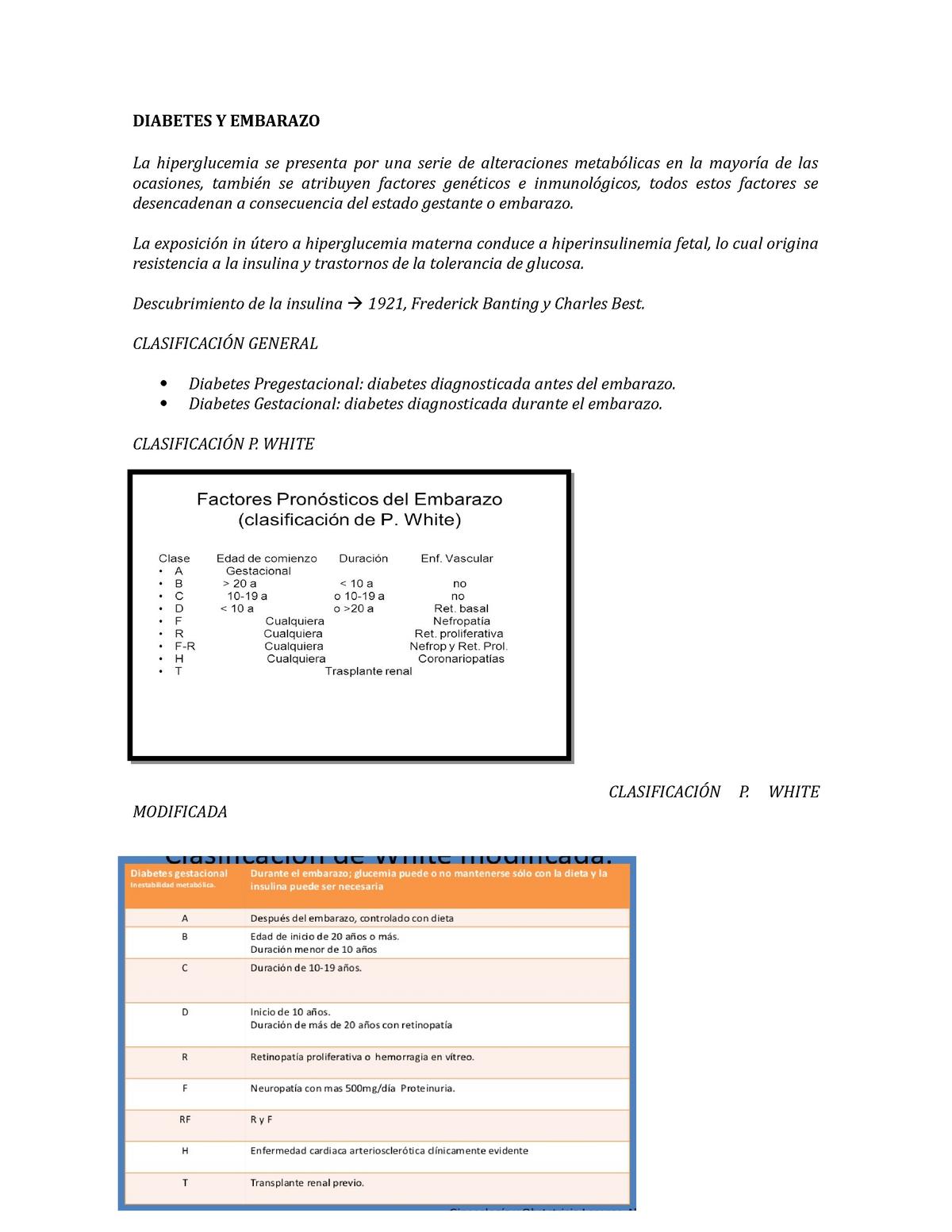 deterioro placentario diabetes gestacional