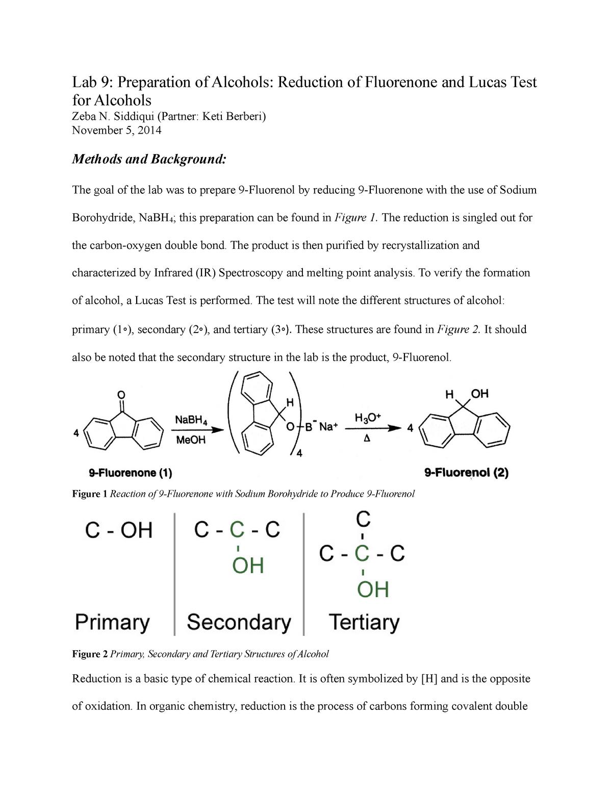 Lab Report 9 - Lecture notes 9 0 - CHEM 233 - UIC - StuDocu