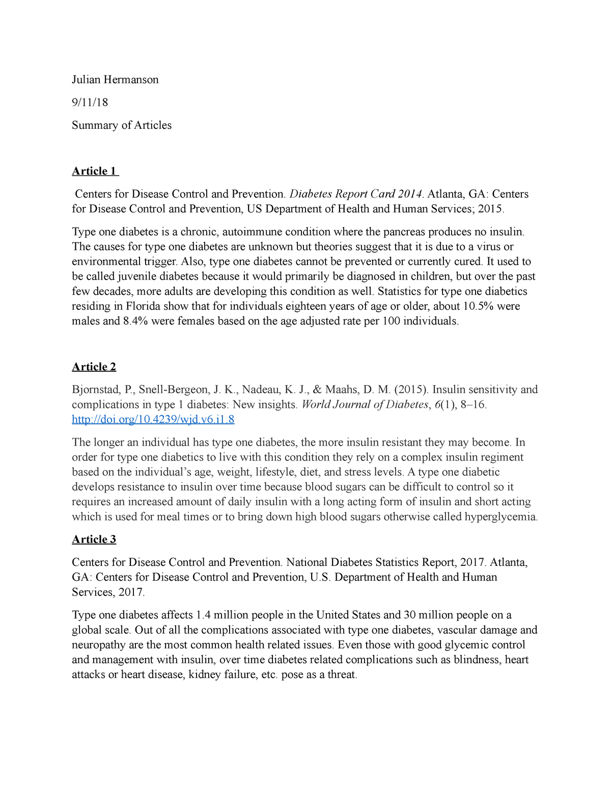 Foundation of Public Health writing - 6 peered reviewed