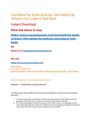 Pdf tarbuck earth science
