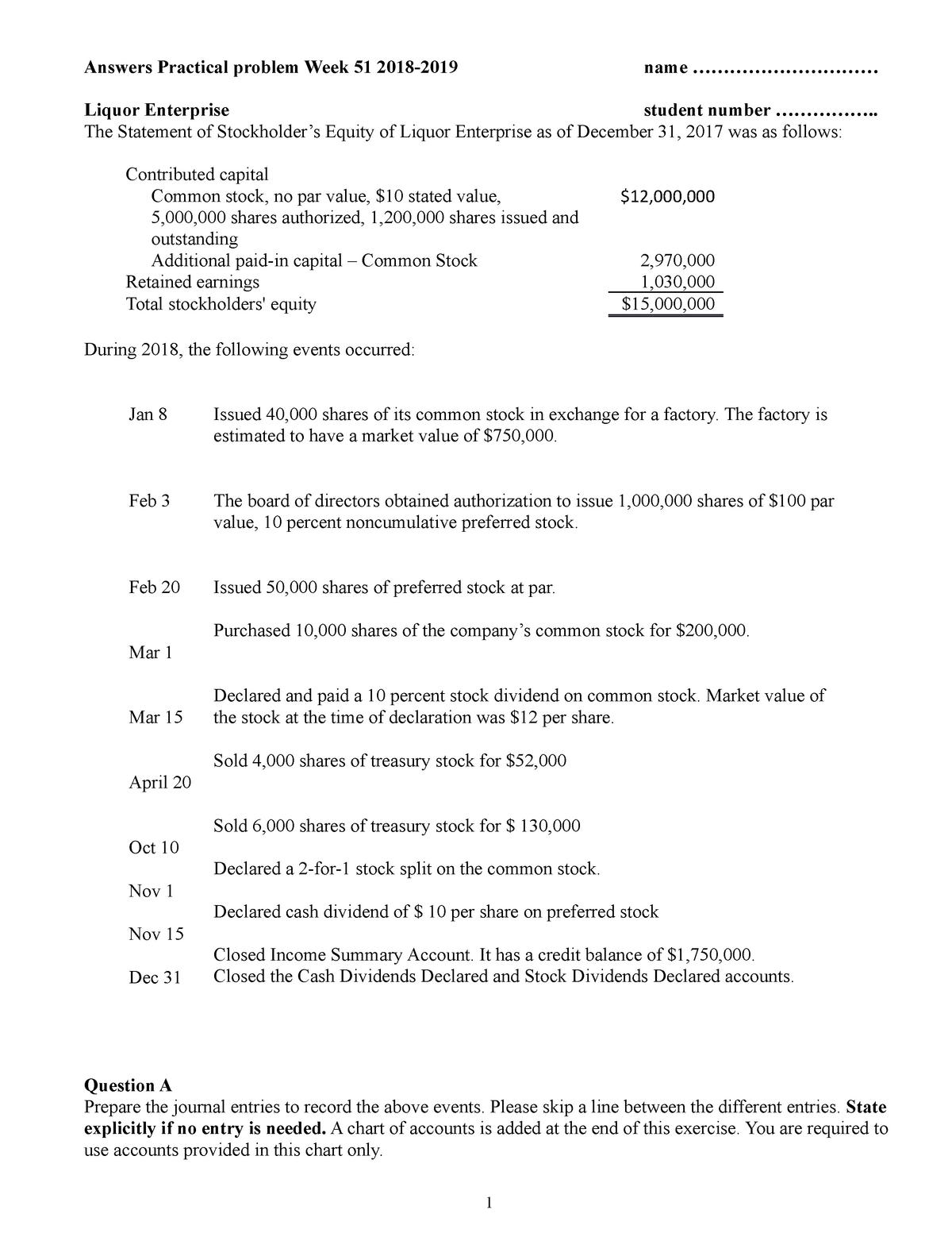 Practicalweek 51-1819answers - EBP030A05: Financial