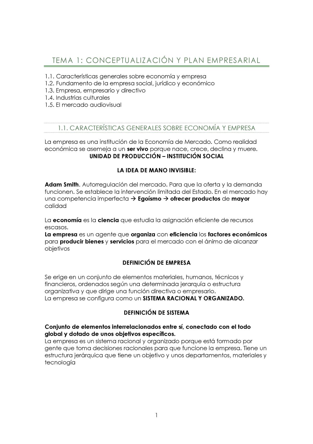 Empresa Apuntes Tema 1 616g01010 Udc Studocu