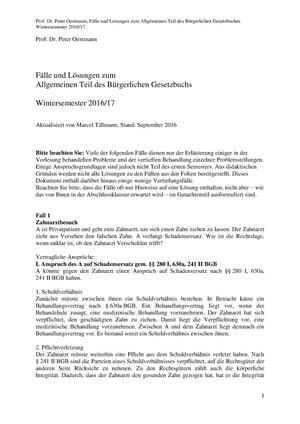 Fälle Bgb At 2016 Faelle Zur Vorlesung 030945 Grundlinien Und