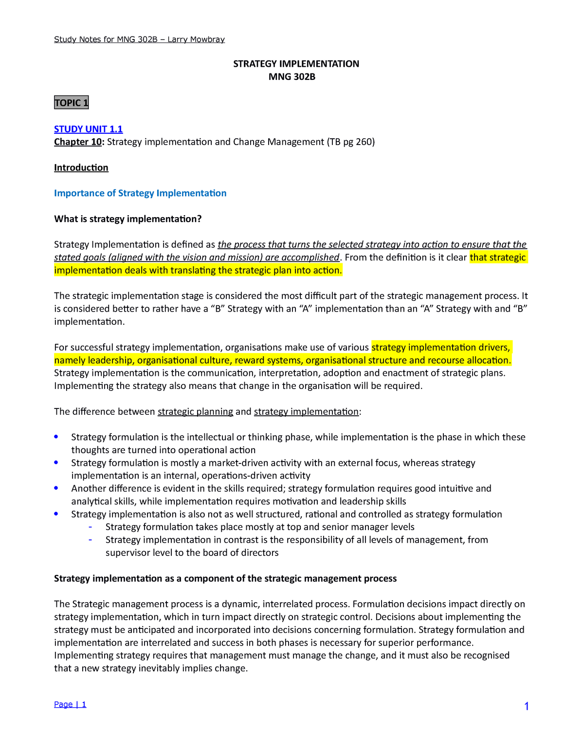 MNG3702-detailed summary - MNG3702 - UNISA - StuDocu