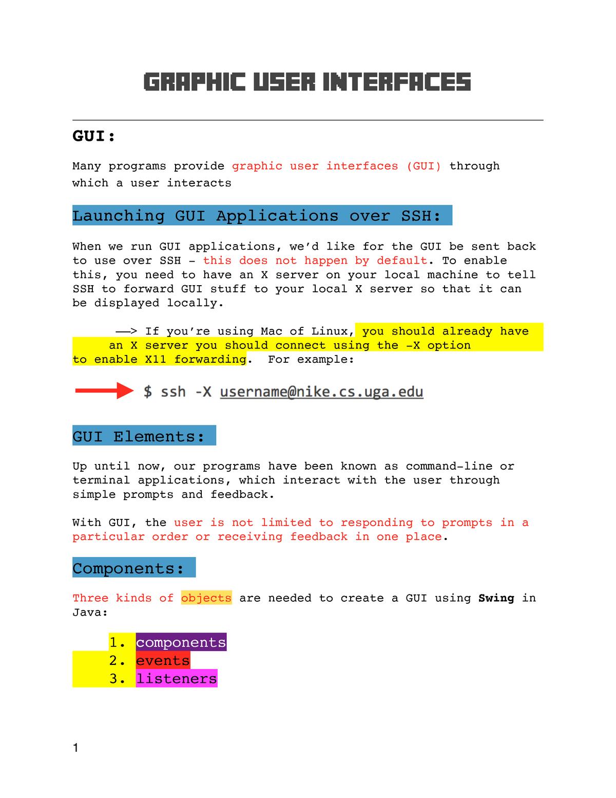 CSCI 1302 - Software Development (Java Swing) - CSCI 1302