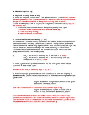 Tentamen 2009 - KIB ATW03: General Linguistics - StudeerSnel nl
