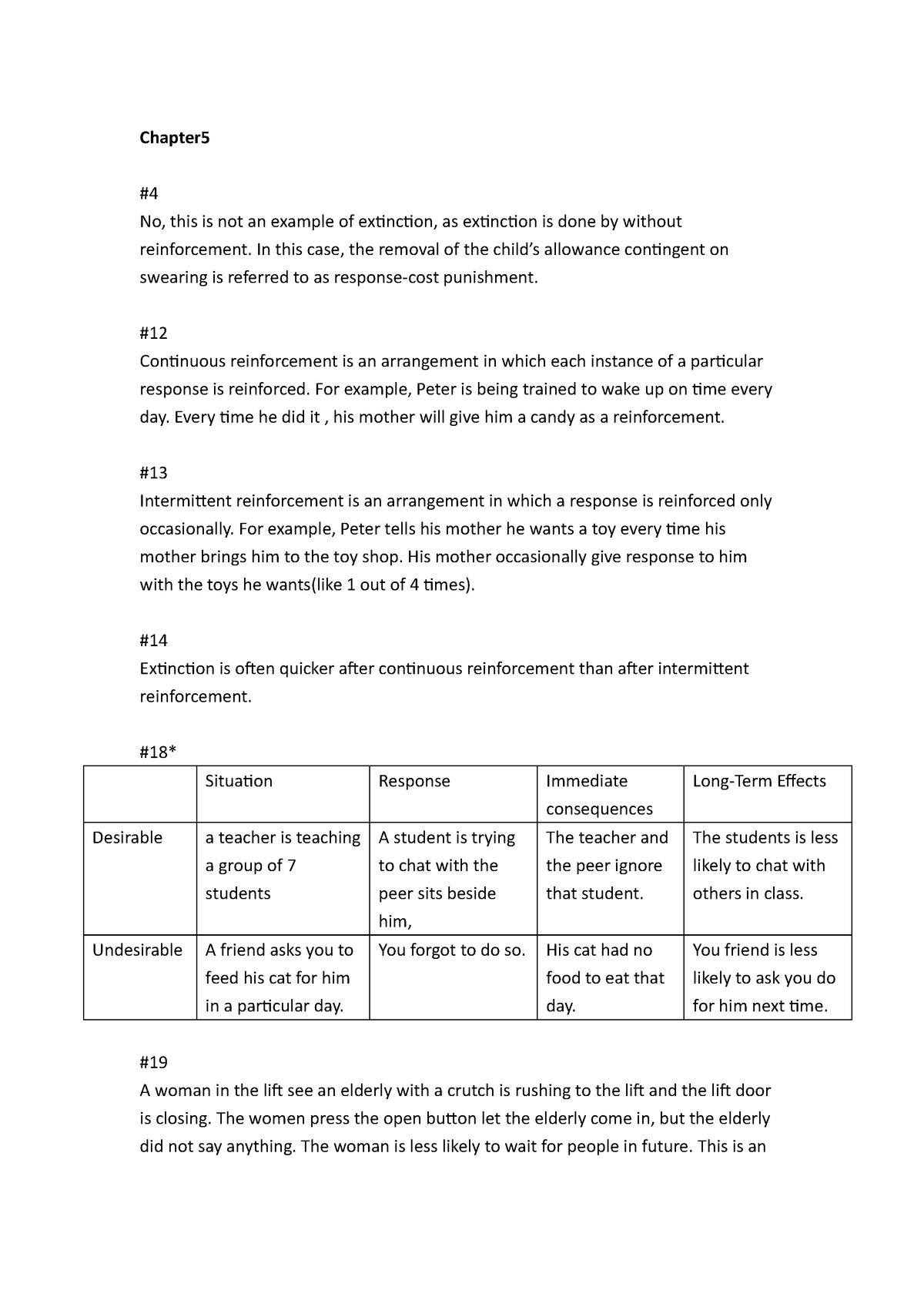 PSYC2440 Assignment 2 - PSYC 2440: Behaviour Modification