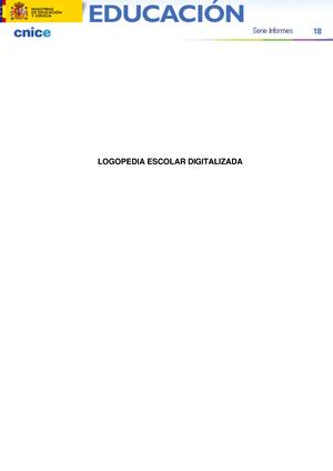Resumen - Logopedia Escolar Digitalizada - Logopedia