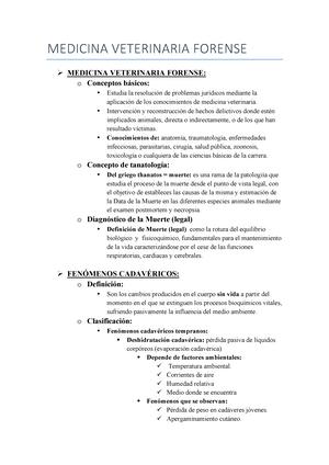 Tema 6 Medicina Veterinaria Forense Deontología Medicina Legal Y