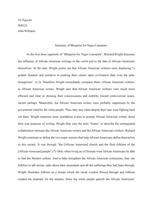 Summary of blueprint for negro literature 1 3 wr 121 summary of blueprint for negro literature 1 3 wr 121 introduction to academic writing studocu malvernweather Image collections