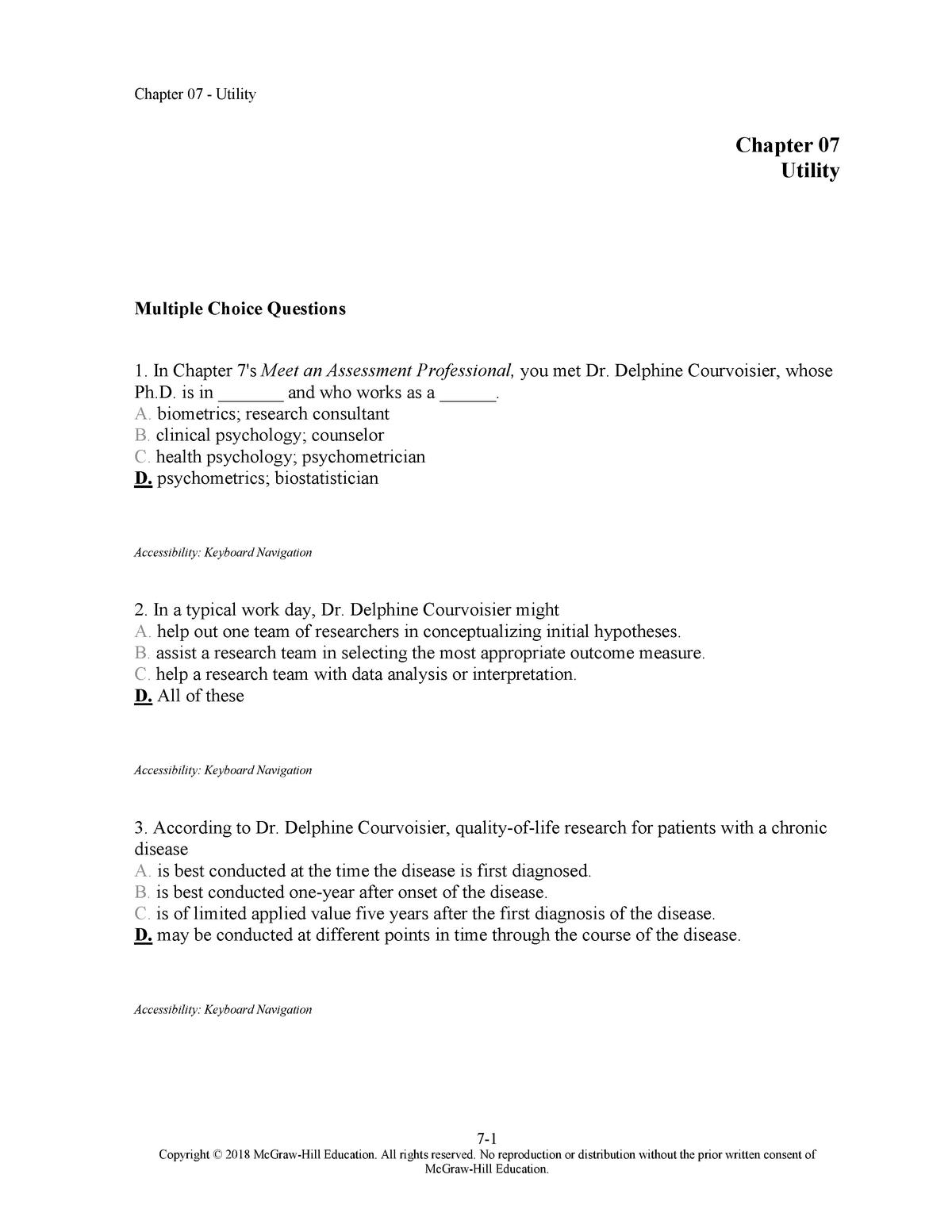 Chap007 Testbank - PSY1022: Psychology 1B - StuDocu
