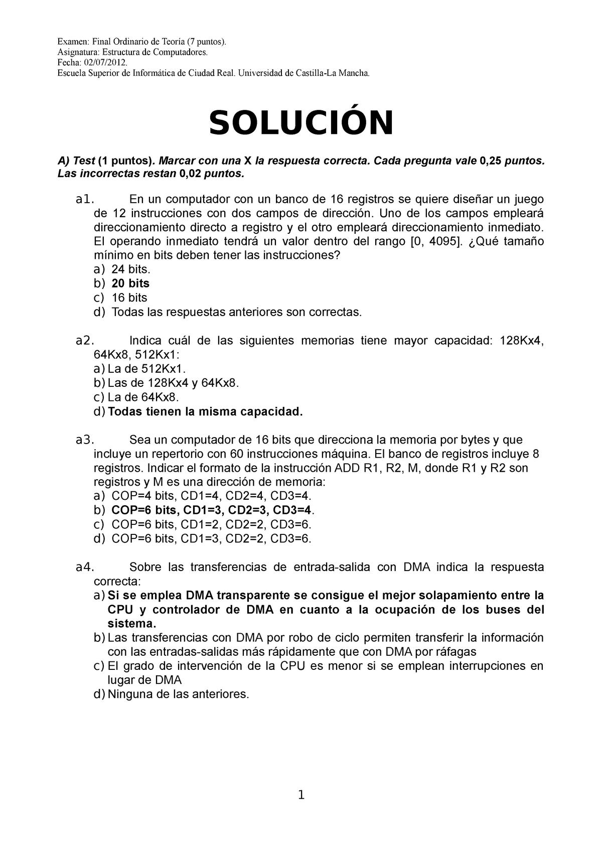 Examenes 2012 Preguntas Y Respuestas 42307 Uclm Studocu