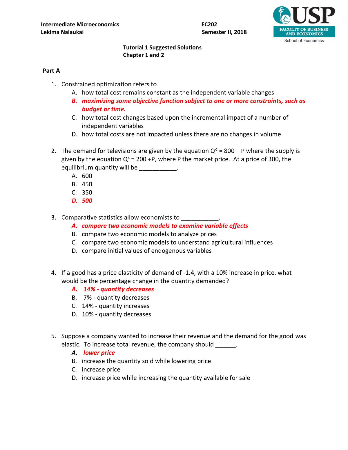 Tutorial 1 Suggested Solutions - StuDocu