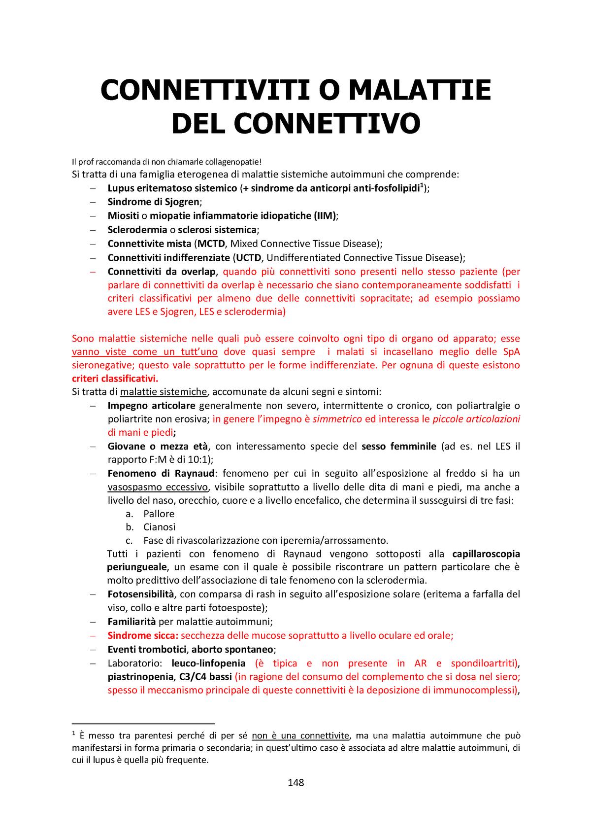 CONNETTIVITI O MALATTIE DEL CONNETTIVO - REUMATOLOGIA D0402