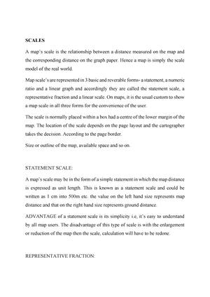 Scales - Lecture notes 2-5 - CC-2: Cartographic Techniques - StuDocu
