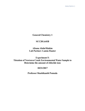 chem lab report 5 scc 201 general chemistry i studocu rh studocu com
