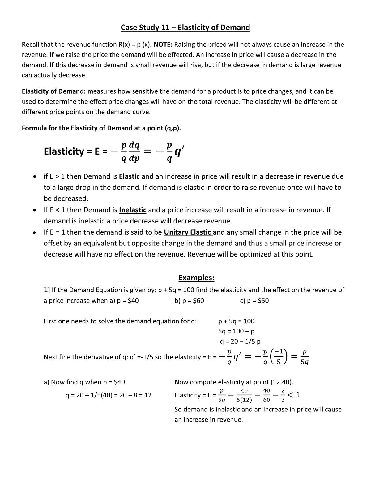 Case Study 11 Nancy Wolff Math 2425 Calculus Ii Studocu