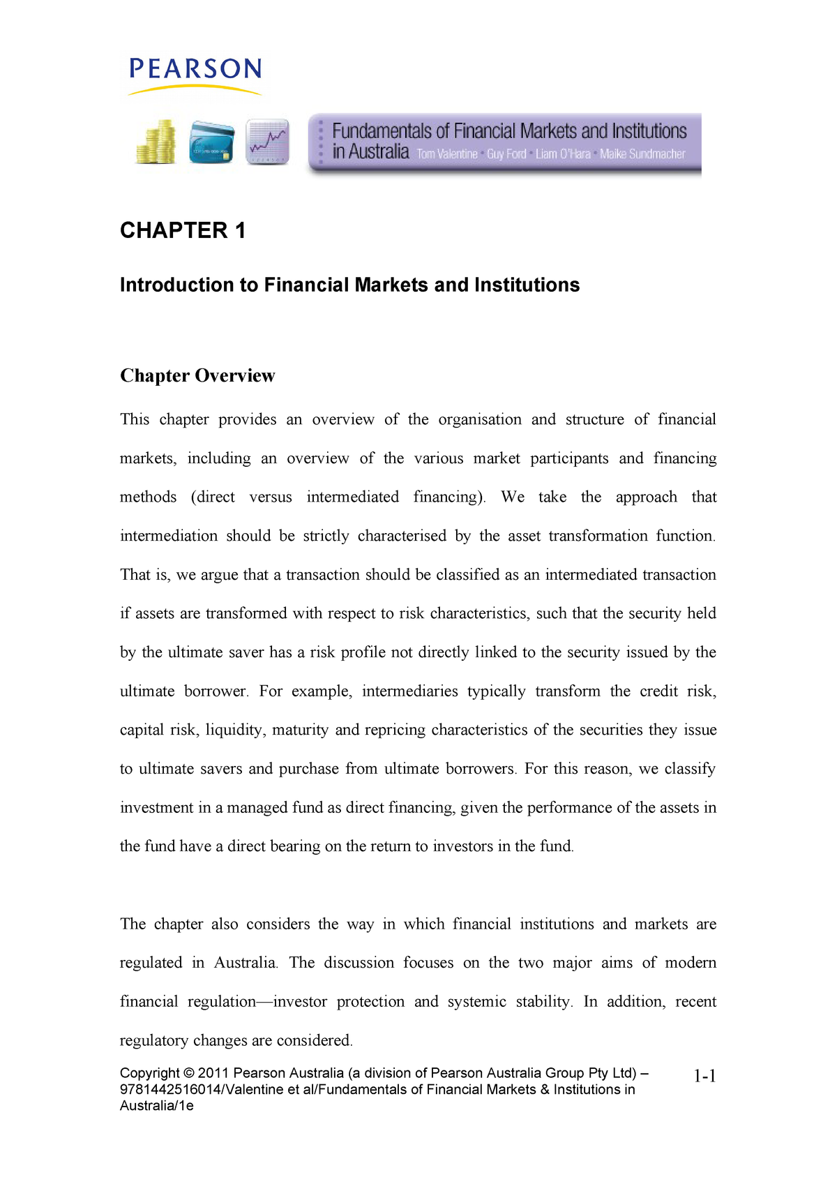 Tutorial work - chapter 1 - Introduction to Financial