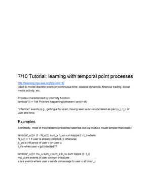 Lecturenotes machinelearning 2017 2018 - D7028E: Maskininlärning