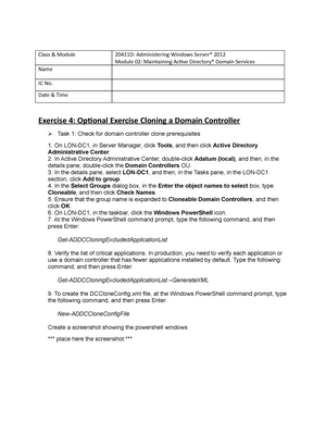 20411 D-Lab02-Ex04-Optional Exercise Cloning a Domain Controller