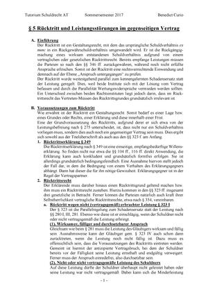 5 Rücktritt Und Weitere Störungen Im Gegenseitigen Vertrag 92101