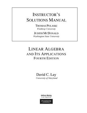 And pdf algebra linear strang its applications