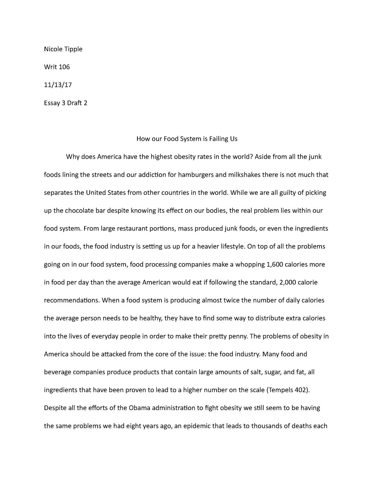 essay  research paper   writ  college writing i   studocu