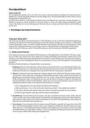 Zusammenfassung - Grundpraktikum Physik - Grundpraktikum Physik