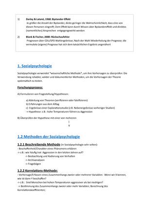 Sozialpsychologiefolien Und Buch Zusammenfassung Sozialpsychologie