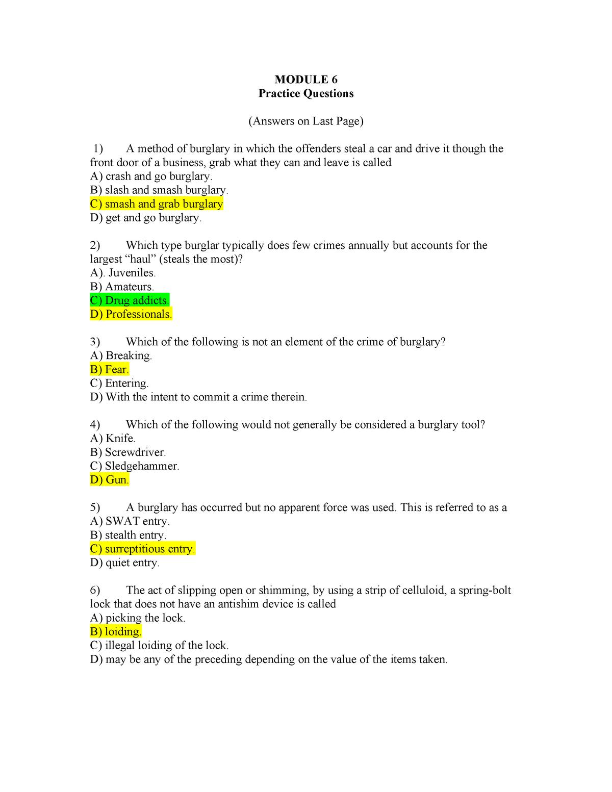 Exam 2016 - CRJU 3400: Criminal Investigations - StuDocu