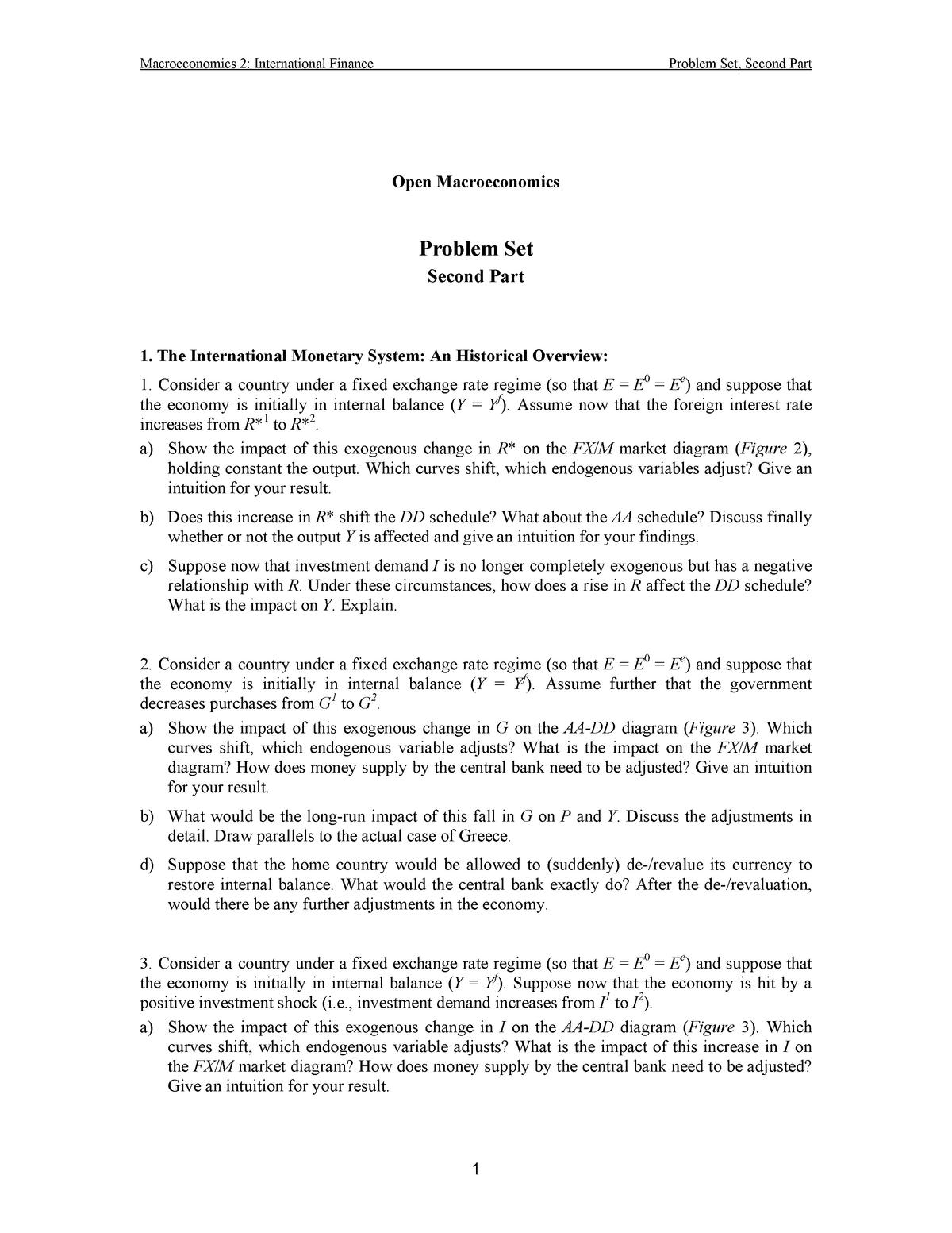 international finance notes for mcom