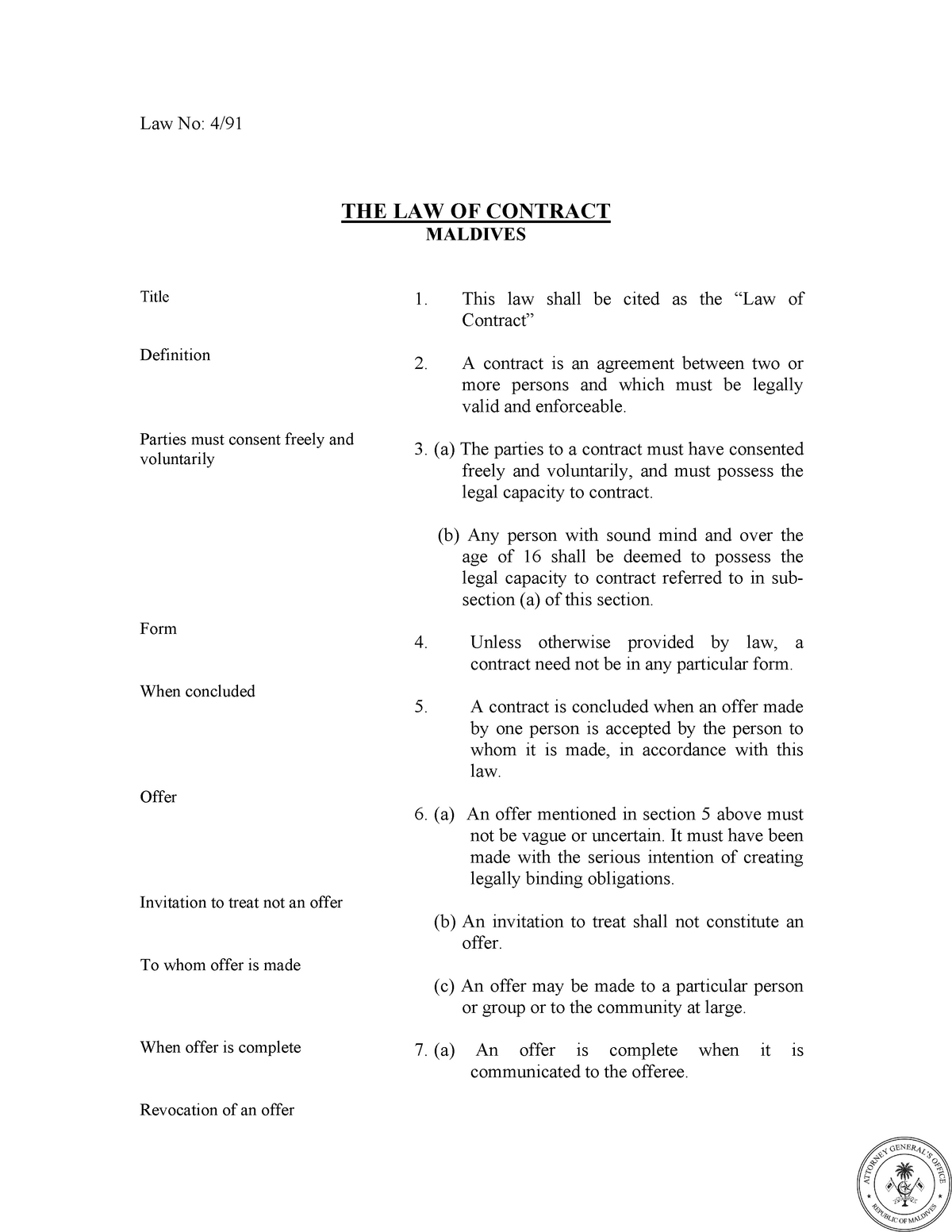 Contract - Lecture notes 1 - ATW 103: Business Law - StuDocu