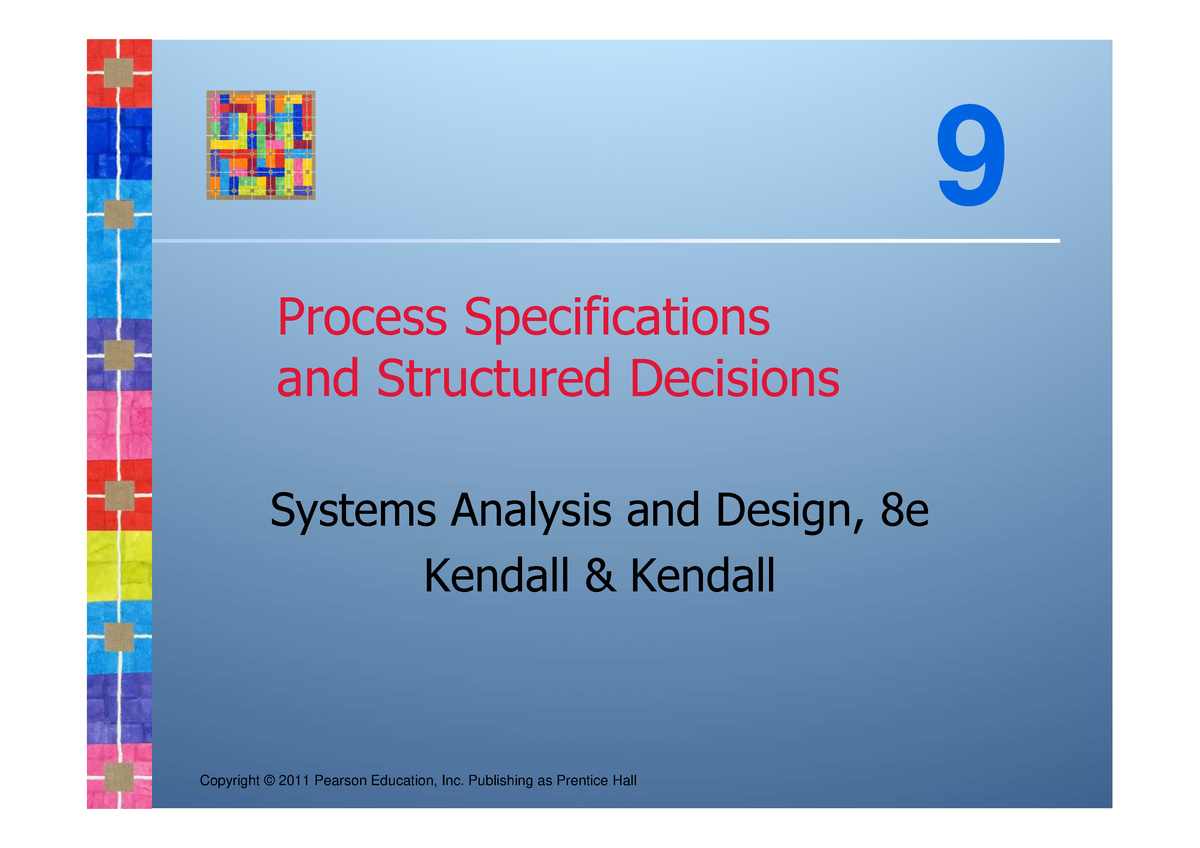 Kendall Sad8e Ch09 Systems Analysis Design Chapter 9 Studocu