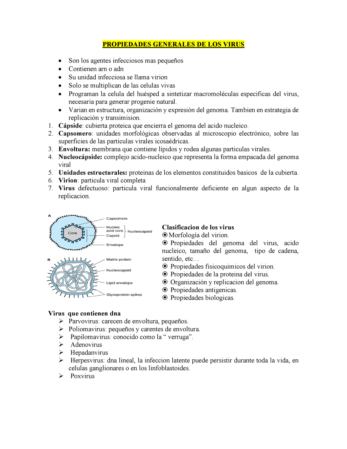 propiedades generales de los virus microbiologia